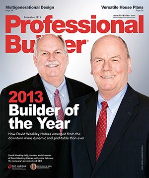 Professional Builder - 2013 Builder of the Year