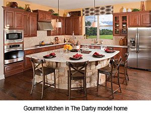 Gourmet kitchen in The Darby model home