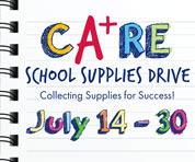 CA+RE School Supplies Drive in Dallas/Ft. Worth!
