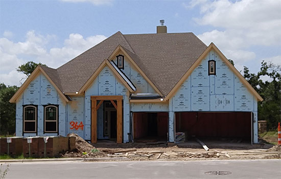 Custom home building process help center david weekley for Construction stages of building a house