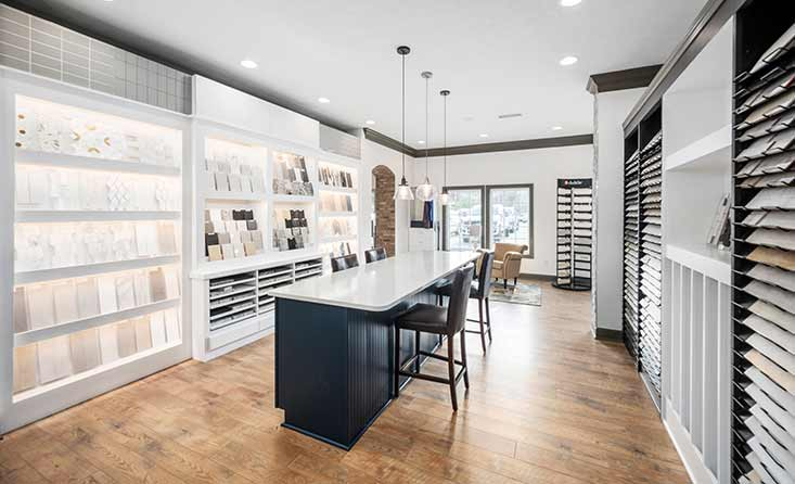 The David Weekley Homes Design Center in Indianapolis, IN