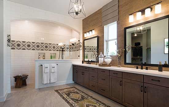 The Owner's Bath in the Duffie Floorplan in Austin, TX