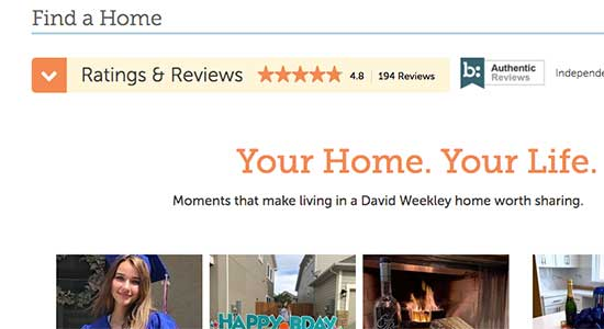 David Weekley Homes reviews