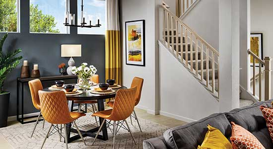 Dining and Living areas of The Coleton floor plan in Colorado Springs, CO