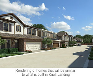Rendering of homes that will be similar to what is built in Knoll Landing