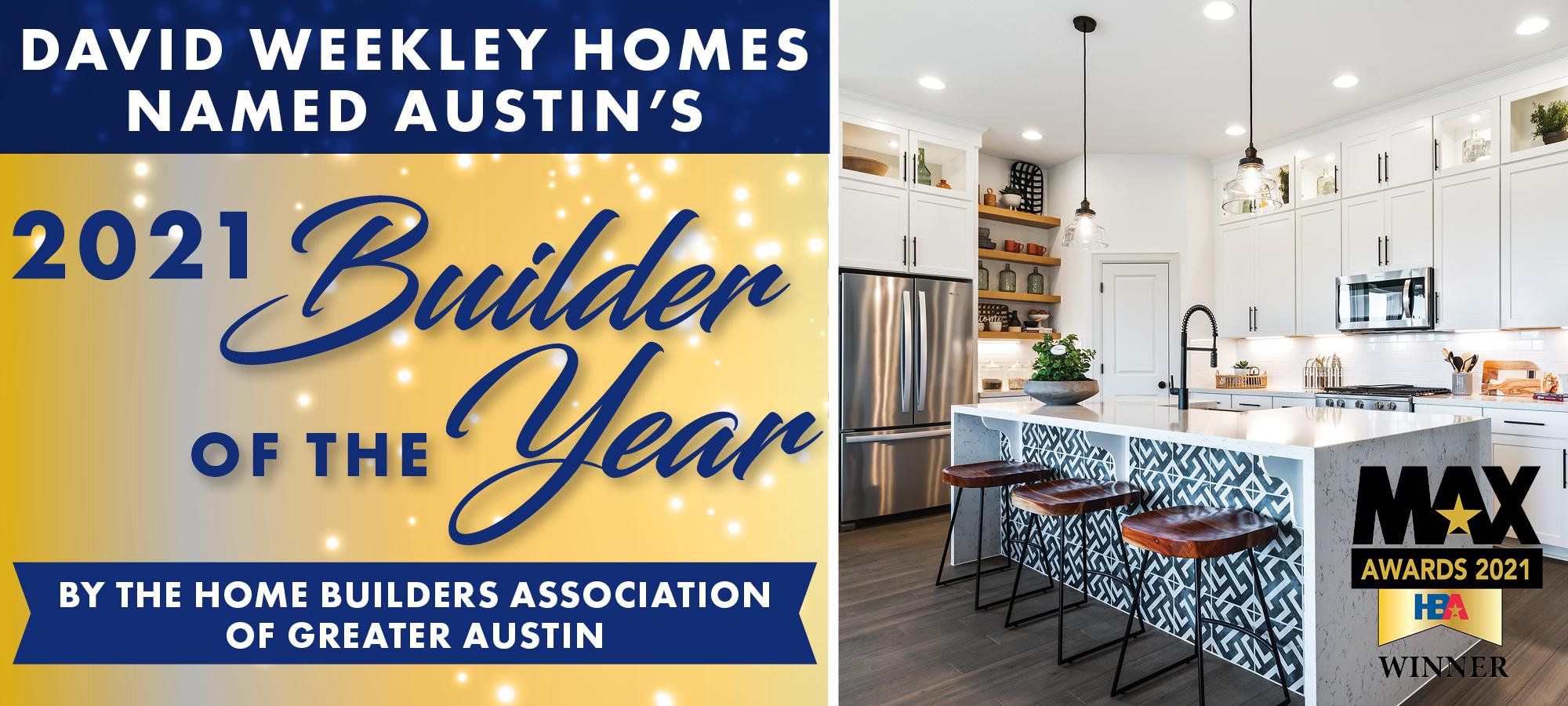 David Weekley Homes Wins Builder of the Year in Austin!