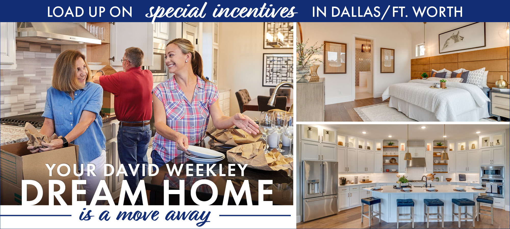 Start packing for your new, move-in ready home in Dallas/Ft. Worth and enjoy limited-time incentives.
