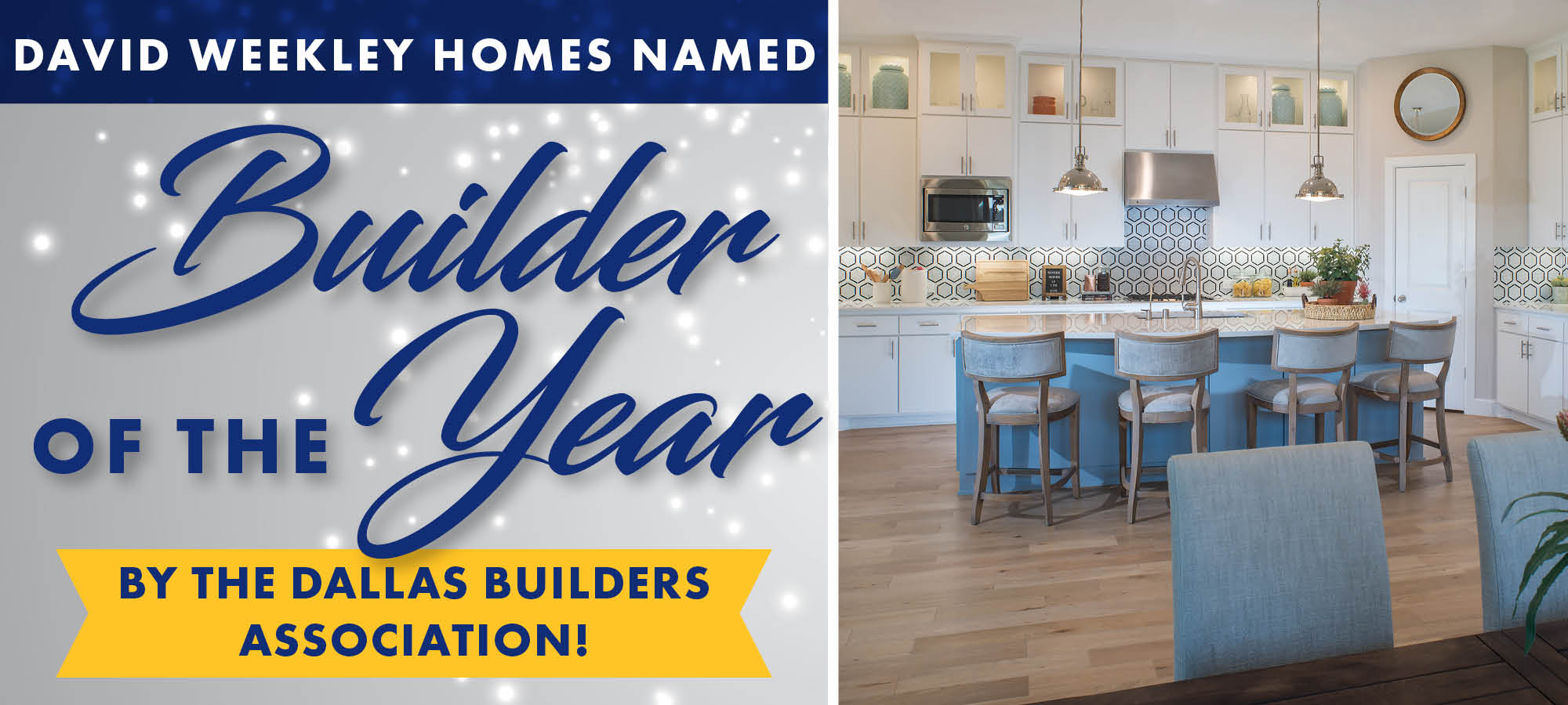 David Weekley Homes Wins Builder of the Year in Dallas!