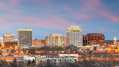 Colorado Springs, CO skyline
