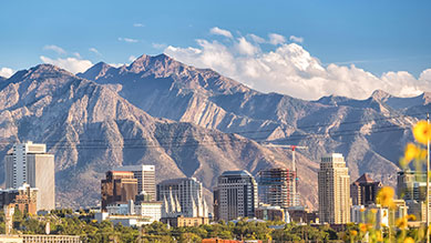 Salt Lake City, UT skyline