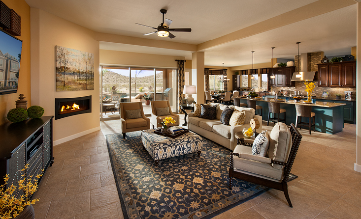 Family Room in David Weekley Home